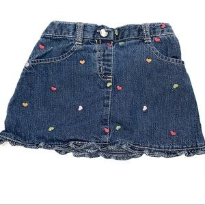 6 For $20 Gymboree Denim Blue Heart Skirt 3T
